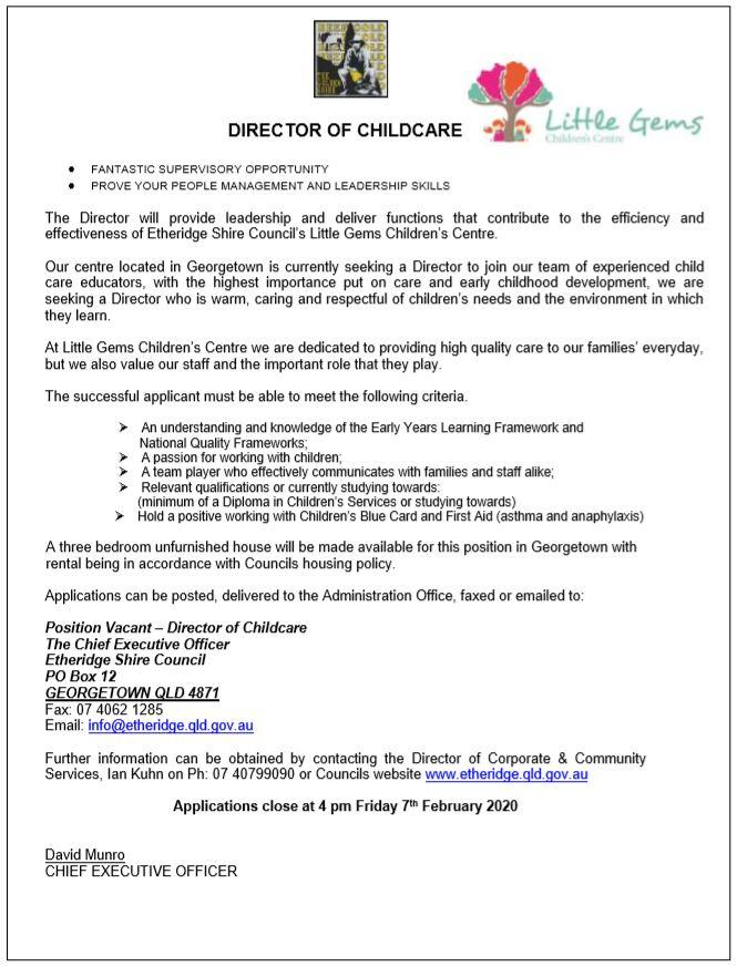 Director of Childcare